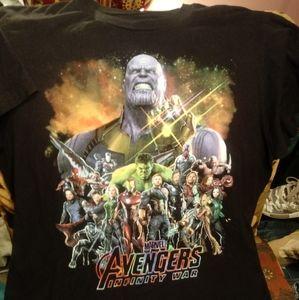 AVENGERS Infinity War Tee Sz M Med